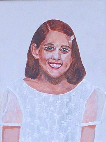 Original acrylic. 16x20 canvas. A portrait of Julie, our oldest granddaughter.