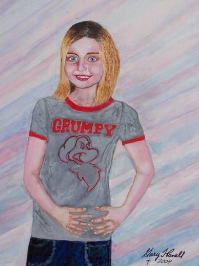 Original acrylic. A portrait of Natasha, our granddaughter.