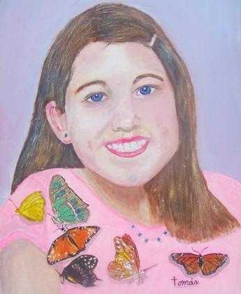 Original acrylic. 16x20 canvas. A portrait of Julie, our oldest granddaughter.